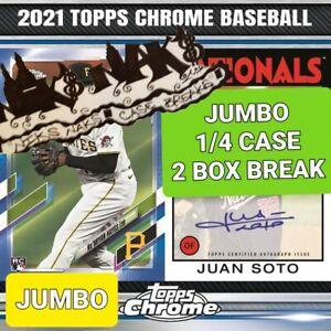 ATLANTA BRAVES 2021 TOPPS CHROME BASEBALL JUMBO 1/4 CASE 2 BOX BREAK #6