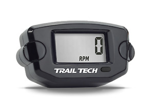 Trail Tech TTO Tach Hour Meter Black Digital Gauge Motorcycle Tachometer Engine