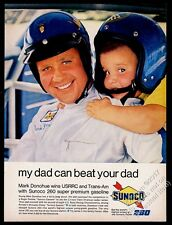 1968 Sunoco 260 gas Mark Donohue photo and son vintage print ad