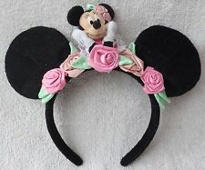 Tokyo Disney Resort Headband Minnie Mouse Black Ears Plush Cosplay Costume Japan