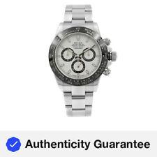 Rolex Daytona Acero Dial Blanco Panda De Cerámica Reloj Para hombres Automático 116500LN W