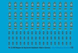 Peddinghaus-Decals 1/32 3546 Arms the Bavarian State Railways Various Size