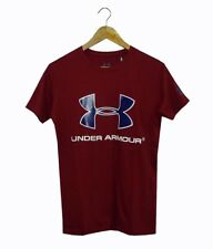 NEW! AUTHENTIC MEN'S GRAPHIC T-SHIRT TOP (MAROON, SIZE SMALL)