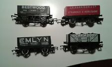 (4) OO Gauge 7 & 5 Plank 12 ton Private Owner coal wagons.