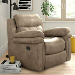 Brown Fabric Manual Recliner Armchair