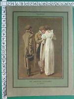 C1930 Francese Stampa L'Illustrazione ~ Amanti Di Impronte Di Boilly