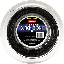 Tourna Big Hitter Black Zone - 1.25mm 17G (black) 726ft 220m Reel Tennis String