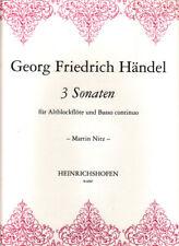 3 Sonaten für Altblockflöte und Basso Continuo (Martin Nitz)