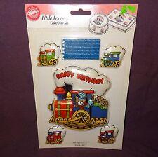 NOS Wilton Little Locomotive Train Cake Top Set 1991  2113-2818 Happy Birthday