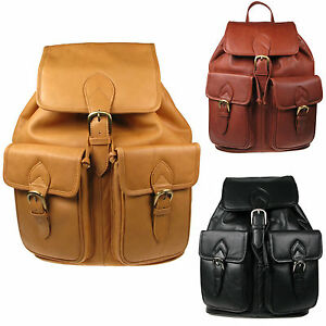 Brand New Extra Large Vitali Real Soft Genuine Leather Backpack Rucksack SN-066