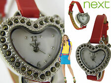 New NEXT Quartz: Battery, Women's VALENTINES Heart WATCH  Boxed BNWT