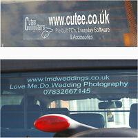 Car,Van Windscreen Stickers-Custom Made Advertising Signs-Personalised Designs