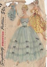 "1954 Vintage Sewing Pattern B30"" EVENING & DAY DRESS & JACKET (R700)"