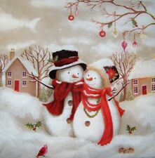 20 x Paper Napkins for Decoupage Party Table Christmas Snowman Winter 323