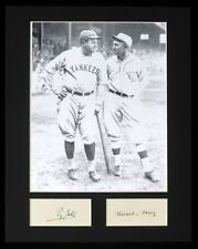 """Ty Cobb Babe Ruth 11x14 Matted Photo Hand Written Signed """"Know, Sorry"""" JSA"""