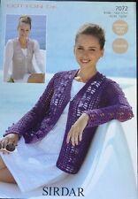 "Sirdar  Knitting Crochet Pattern  Ladies  D K Cardigan  Size 32"" To 54"""