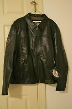 NEW with Tags Mens Harley Davidson Black Leather Jacket XXXL 3XL