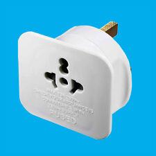 UK Visitor's Travel Adaptor, USA Europe Australia Plugs to 3 Pin UK Mains Socket