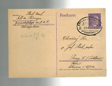 1943 Suhl Germany Buchenwald Concentration Sub Camp Cover to Prague KZ Bahnpost