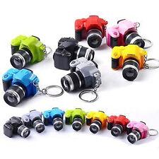 1x Camera Keyring with LED Light Flashlight Sound Charm Keychain Keyring Gift