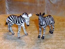 Schleich Zebra 2 Baby Foals Animal Figure Toy Wildlife Lot