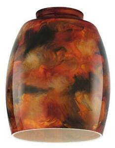 2-1/4-Inch Handblown Fire Pit Glass Shade