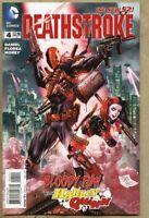 Deathstroke #4-2015 nm 9.4 Standard Cover / Harley Quinn New 52 Batman