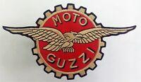 Moto Guzzi Eagle Patch Aufnäher 17x9,5cm  Biker Kutte MC Vintage Old School