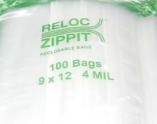 """1000 ZIPLOCK 9"""" x 12"""" HEAVY DUTY 4MIL 9 x 12 BAGS LARGE THICK  CLEAR RECLOSABLE"""
