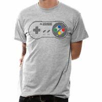 Men's Unisex Nintendo Retro SNES Controller Pad Grey T-Shirt