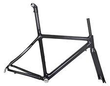 51cm BSA Carbon Road Bike Frame Fork Race Part 700C 3k glossy black ISP seatpost