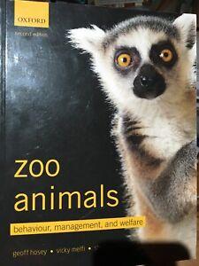 Zoo Animals Behaviour Management and Welfare Geoff Hosey Breeding Free Postage