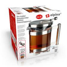 Teezubereiter Glaskanne Teekanne Kanne mit integriem Tee-Ei Teesieb Filter