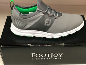 NEW FootJoy Superlite 58065 Grey/Lime Men's Golf Shoes 10M Were $135