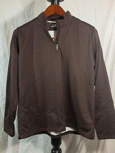 Under Armour Cold Gear Jacket Women Size XL Quarter Zip Pullover Brown