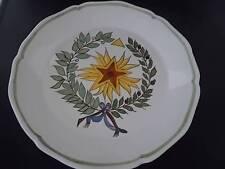 Vtg French MASONIC Symbols Faience Art Pottery Handmade Handpainted Plate 5 MINT