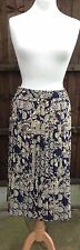 True Vintage St Michael Pleated Skirt with Eye Catching Print Size 10 VGC