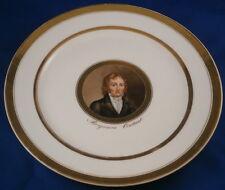 Early19thC Porcelain de Paris Portrait Plate Porcelaine Assiette Vieux Political