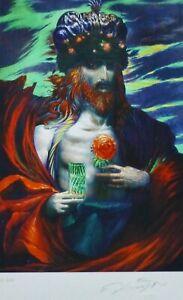 "ERNST FUCHS 1930-2015 ""The Rose King"" HAND SIGNED 2012 AUSTRIAN ARTIST"
