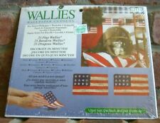 New Sealed WALLIES Prepasted Wallpaper Cutouts 25 AMERICAN FLAGS 12114 Decoupage