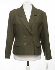 Women's Wool Blend Double Breasted Hip Length Coats & Jackets