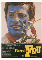 088 CARTE POSTALE film PIERROT LE FOU de Jean Luc Godard avec Jean Paul Belmondo