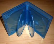 3 Blu Ray Hüllen Fünffach 5fach 5-fach blau Blu-Rays Rückenbreite 15mm 1,5cm Neu