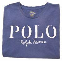 POLO RALPH LAUREN Boys T-Shirt Top 15-16 Years Medium Blue Cotton  BN02