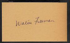 Dr. Walter Freeman Transorbital Lobotomy Autograph Reprint On 1950s 3x5 Card