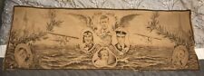 Large Charles Lindbergh Tapestry Made in France