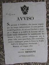 S685-LOMB.VENETO-NAUFRAGIO NAVE POSTALE 1820