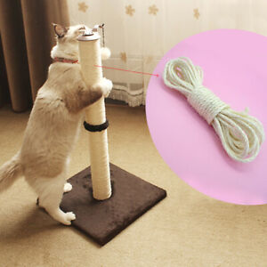 33ft Natural Sisal Rope for Pet Cat Climbing Frame Tree Kitten Scratch Post Toys