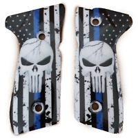 Beretta GRIPS 92/96 Series Pistols 92F, 92FS, M9, 96 Art Grips Skull Flag