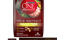 Purina ONE SmartBlend True Instinct Natural Grain-Free Formula Adult Dry Dog ...